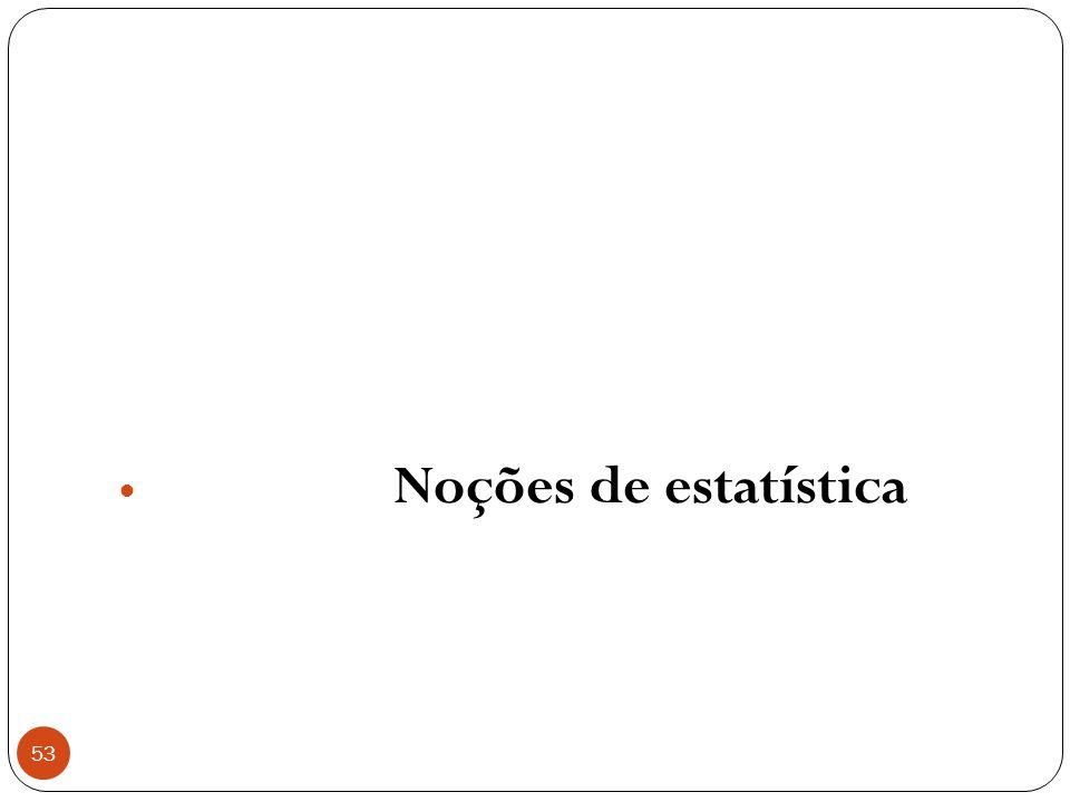 Noções de estatística