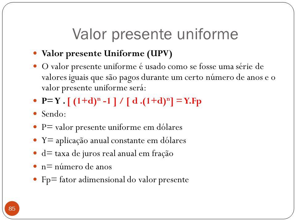 Valor presente uniforme