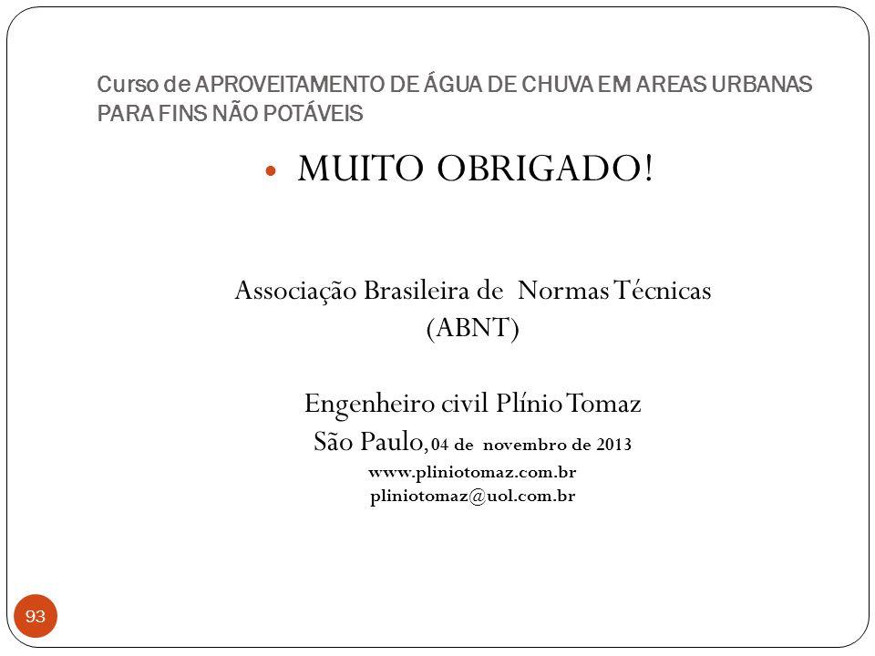 Curso de APROVEITAMENTO DE ÁGUA DE CHUVA EM AREAS URBANAS PARA FINS NÃO POTÁVEIS