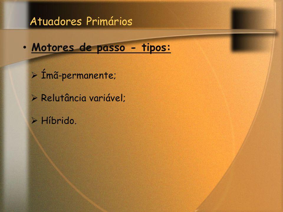 Motores de passo - tipos: