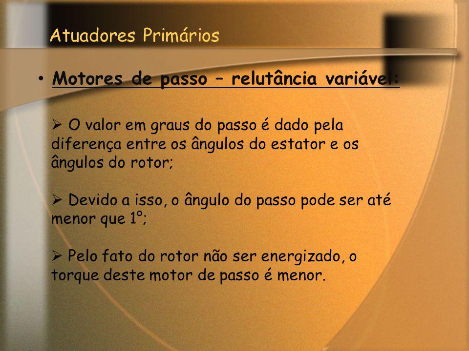 Motores de passo – relutância variável: