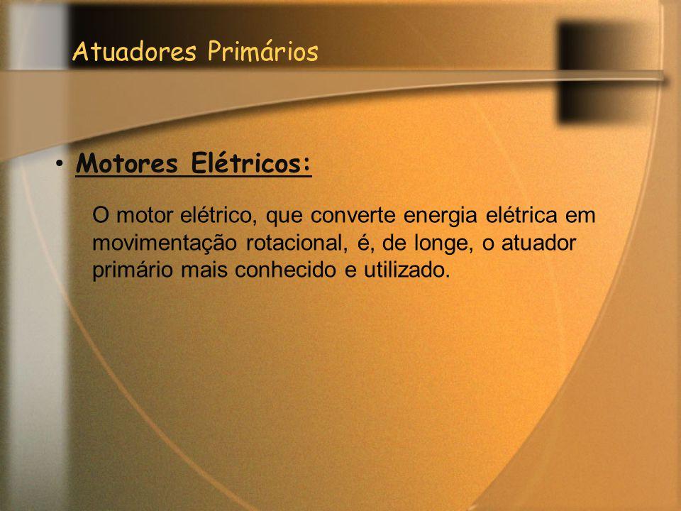 Atuadores Primários Motores Elétricos: