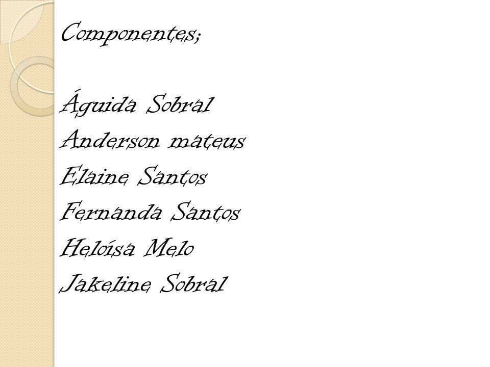 Componentes; Águida Sobral. Anderson mateus. Elaine Santos.