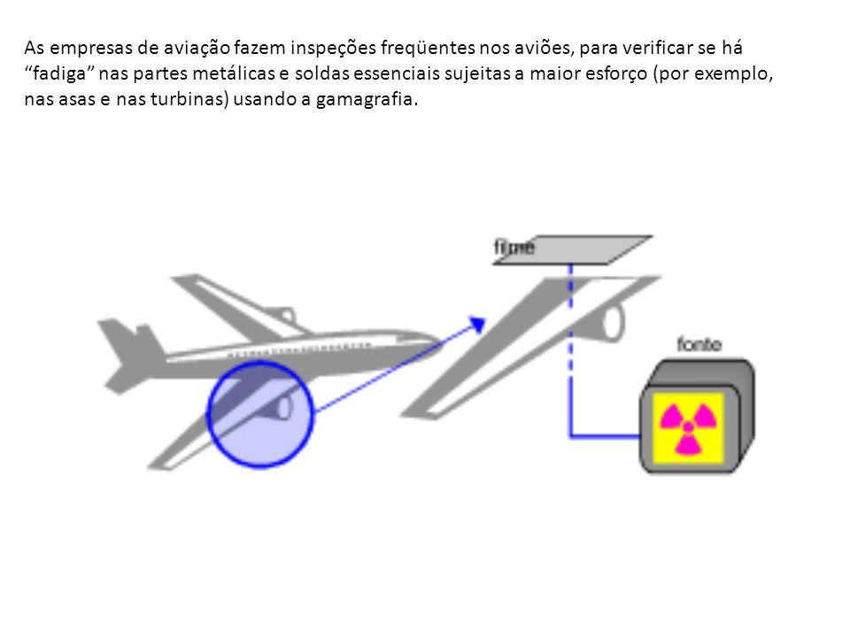 As empresas de aviação fazem inspeções freqüentes nos aviões, para verificar se há