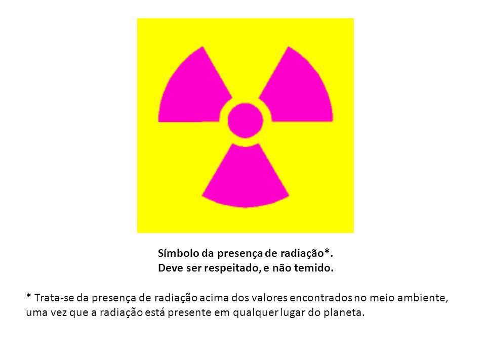Símbolo da presença de radiação*. Deve ser respeitado, e não temido.