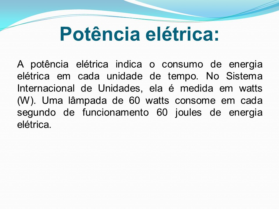 Potência elétrica: