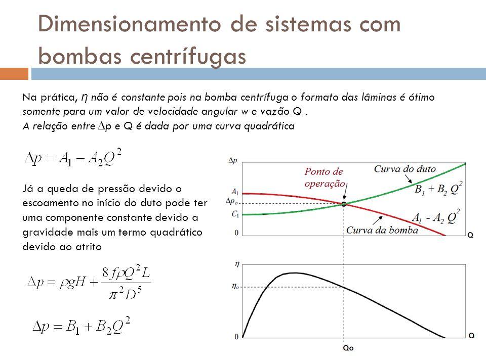 Dimensionamento de sistemas com bombas centrífugas