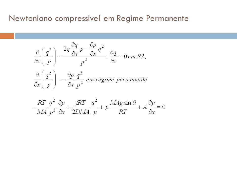Newtoniano compressivel em Regime Permanente