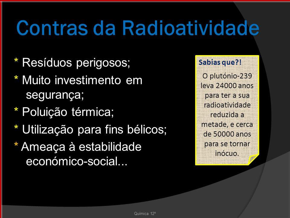 Contras da Radioatividade