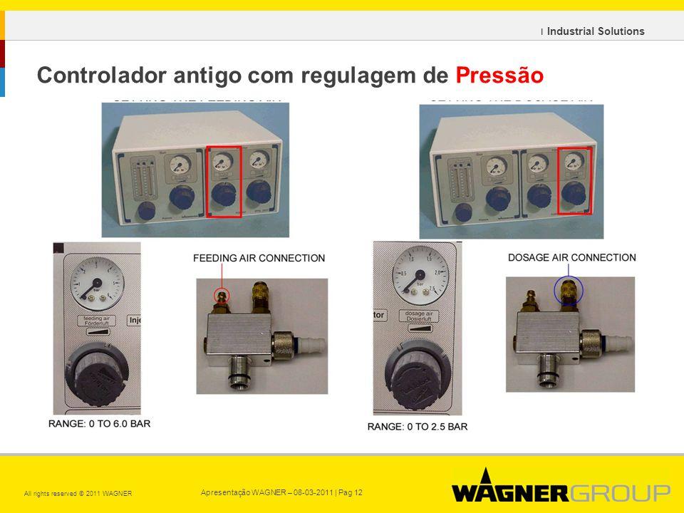 Controlador antigo com regulagem de Pressão