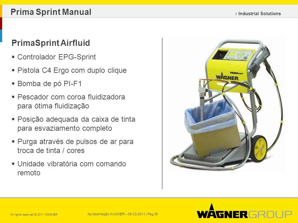 Prima Sprint Manual PrimaSprint Airfluid Controlador EPG-Sprint