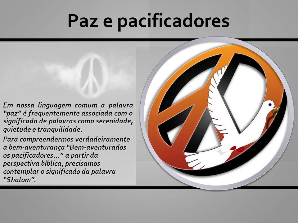 Paz e pacificadores