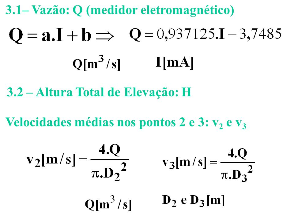3.1– Vazão: Q (medidor eletromagnético)