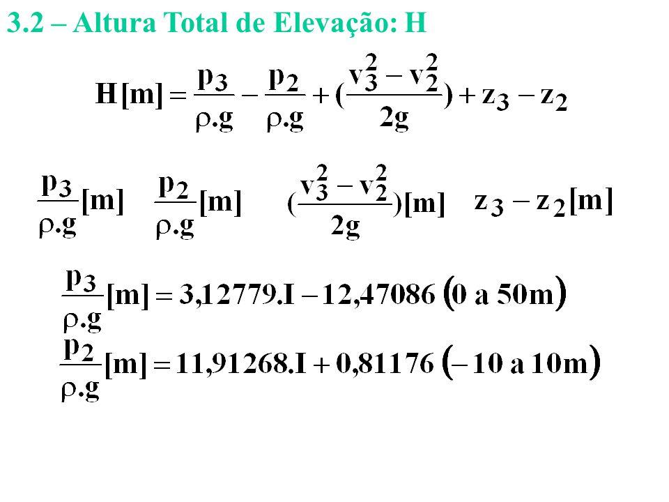 3.2 – Altura Total de Elevação: H