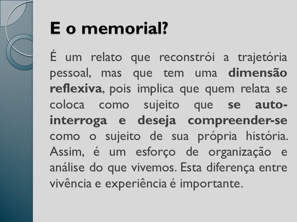 E o memorial