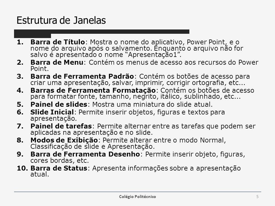 Estrutura de Janelas