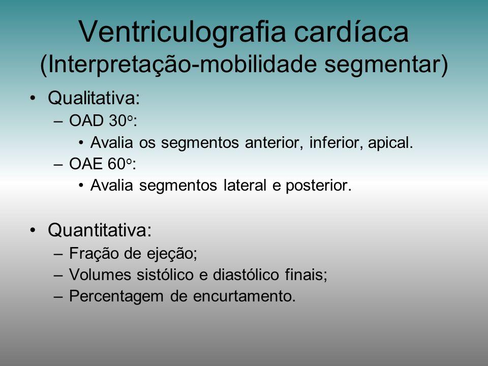 Ventriculografia cardíaca (Interpretação-mobilidade segmentar)