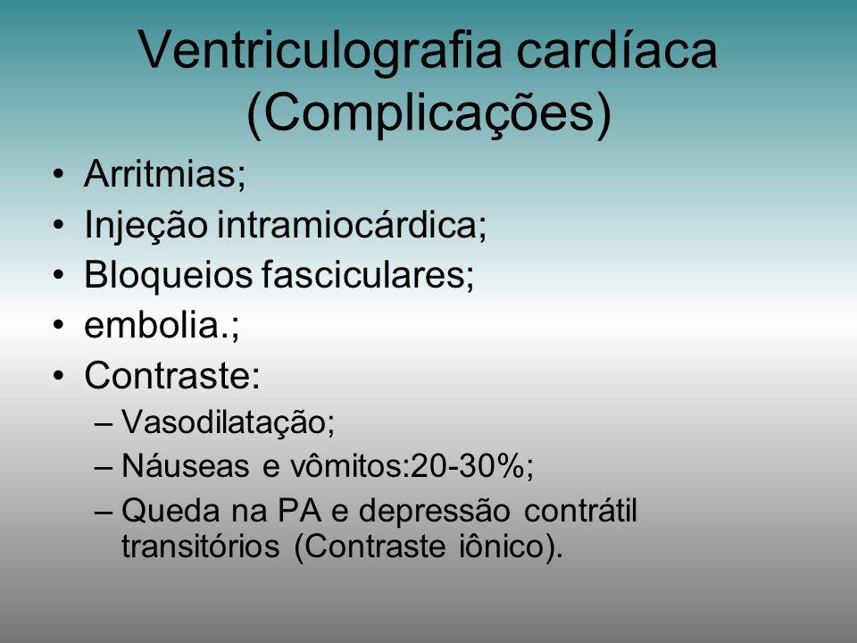 Ventriculografia cardíaca (Complicações)
