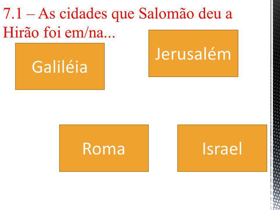 Jerusalém Galiléia Roma Israel