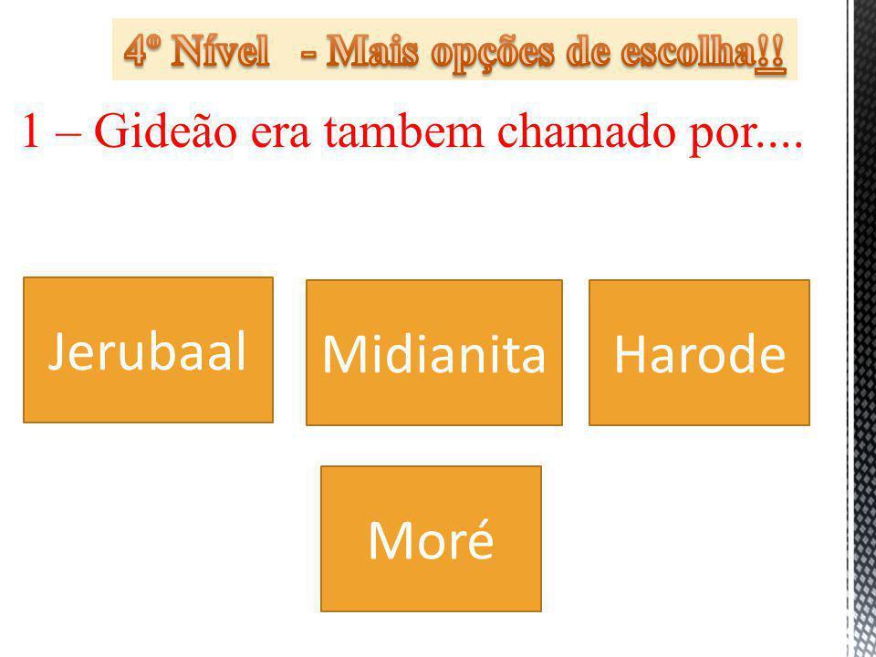 4º Nível - Mais opções de escolha!!