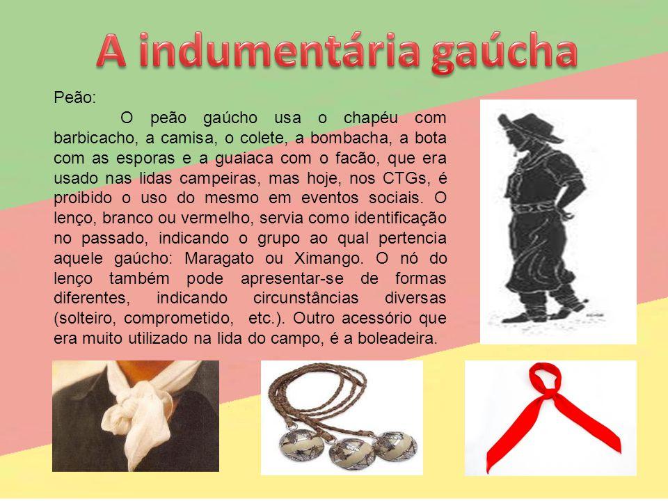 A indumentária gaúcha Peão: