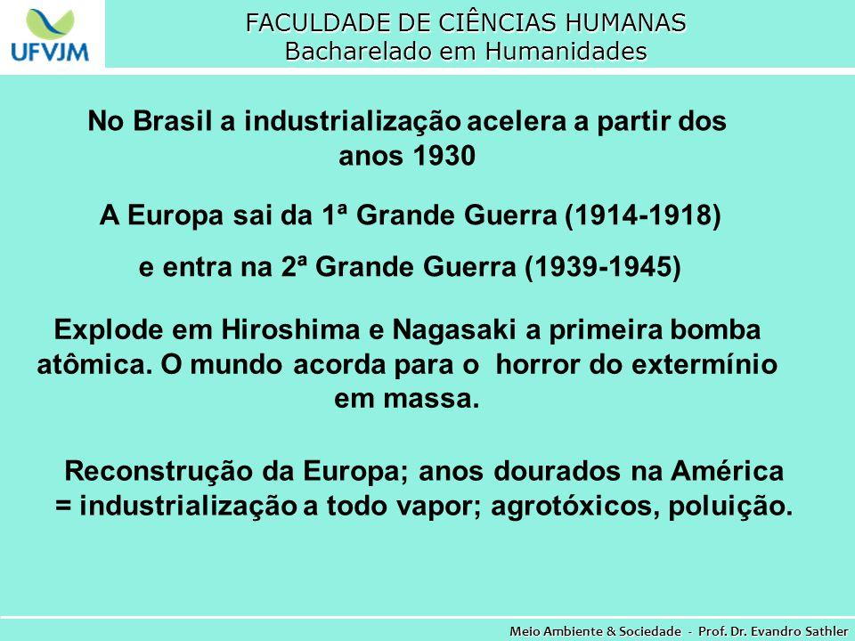 No Brasil a industrialização acelera a partir dos anos 1930