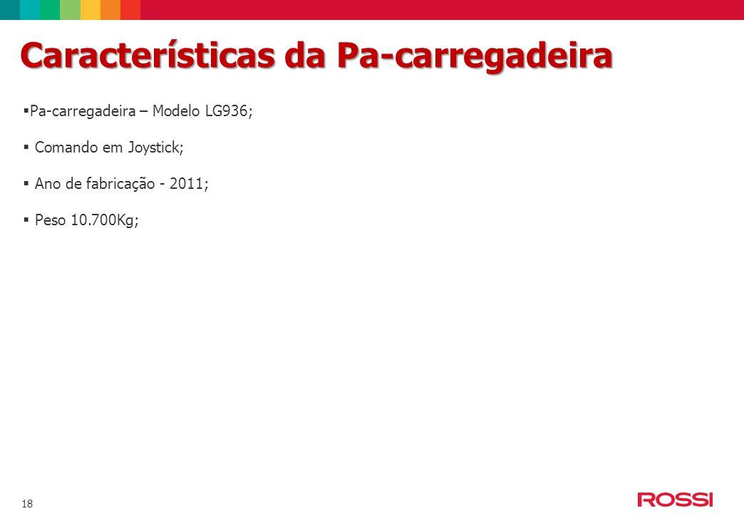 Características da Pa-carregadeira