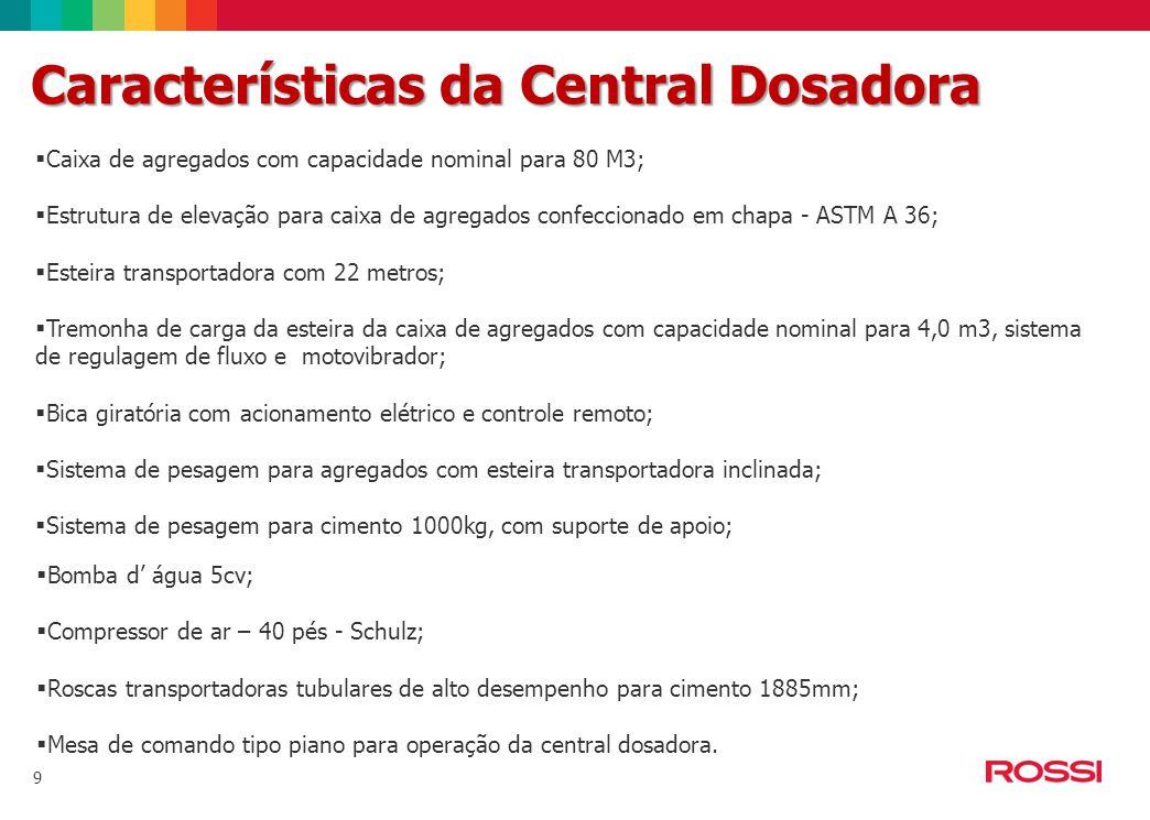 Características da Central Dosadora