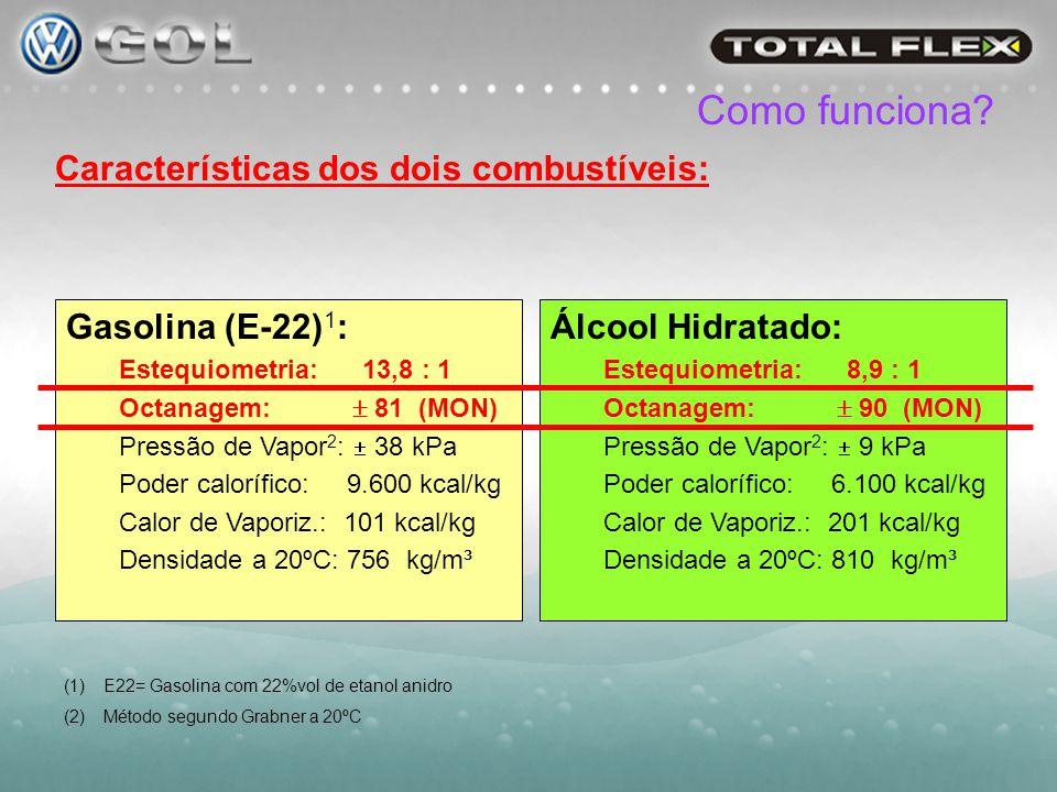 Como funciona Características dos dois combustíveis: