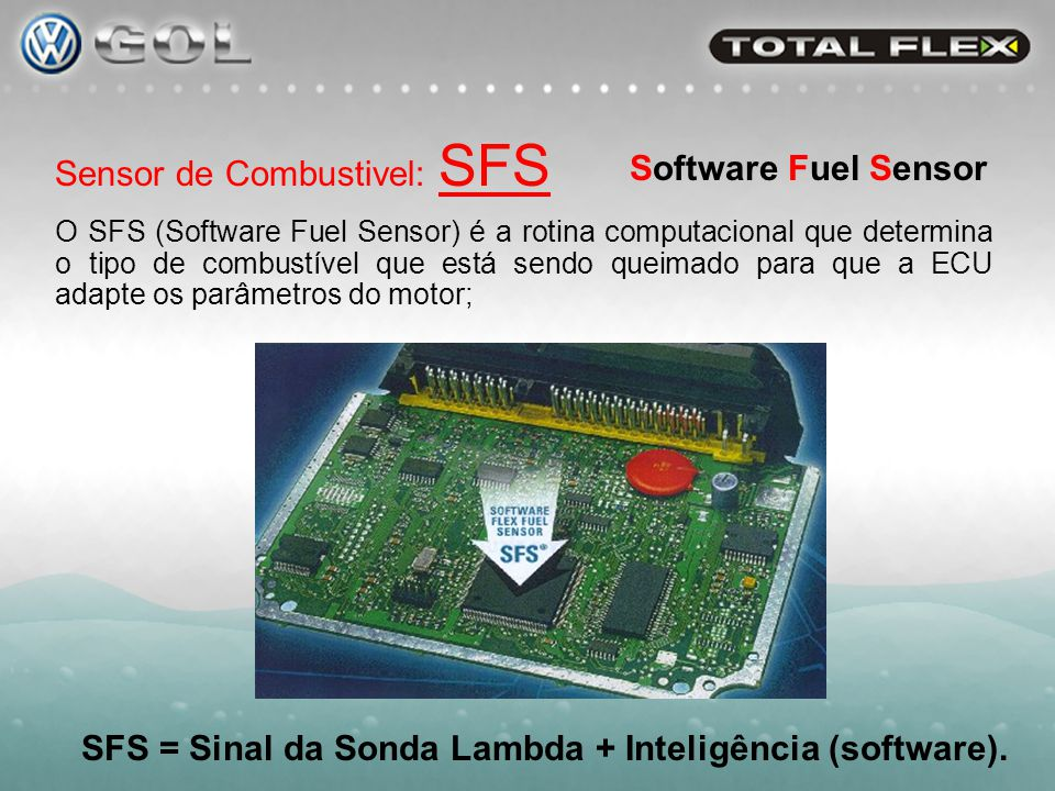 SFS = Sinal da Sonda Lambda + Inteligência (software).