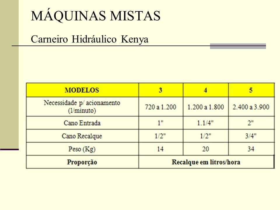 MÁQUINAS MISTAS Carneiro Hidráulico Kenya