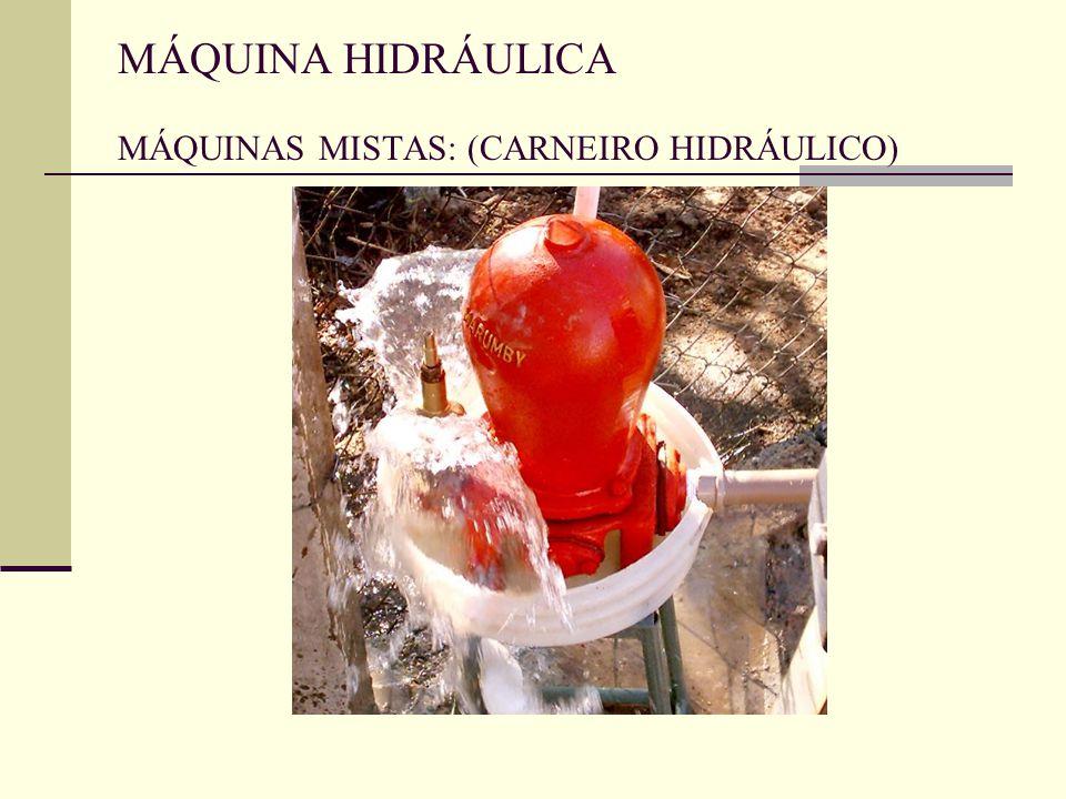 MÁQUINA HIDRÁULICA MÁQUINAS MISTAS: (CARNEIRO HIDRÁULICO)