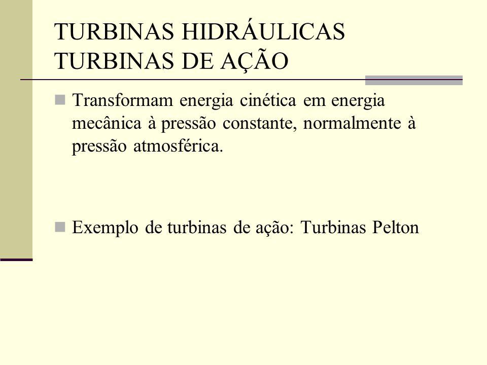 TURBINAS HIDRÁULICAS TURBINAS DE AÇÃO