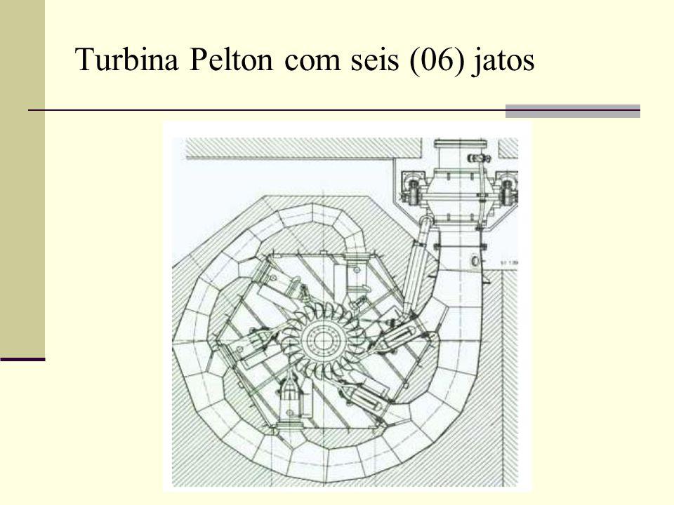 Turbina Pelton com seis (06) jatos