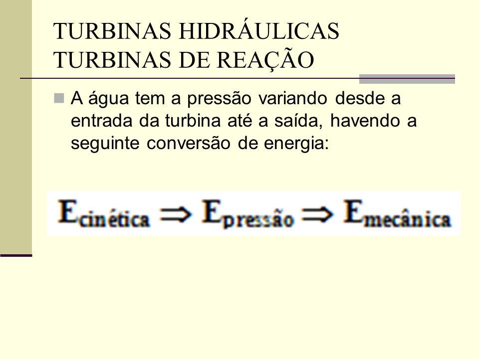 TURBINAS HIDRÁULICAS TURBINAS DE REAÇÃO