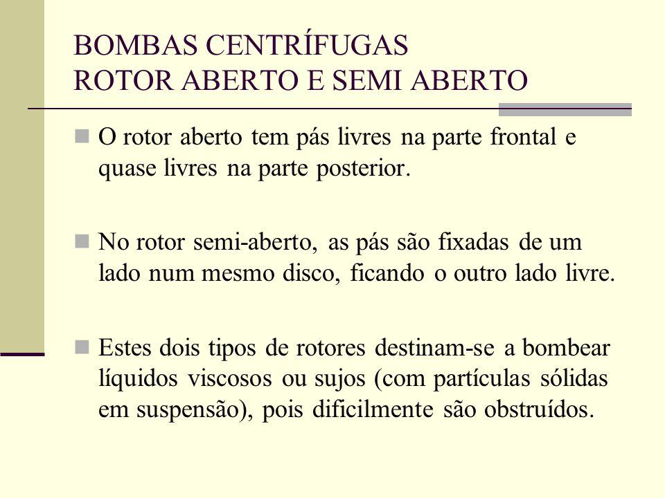 BOMBAS CENTRÍFUGAS ROTOR ABERTO E SEMI ABERTO