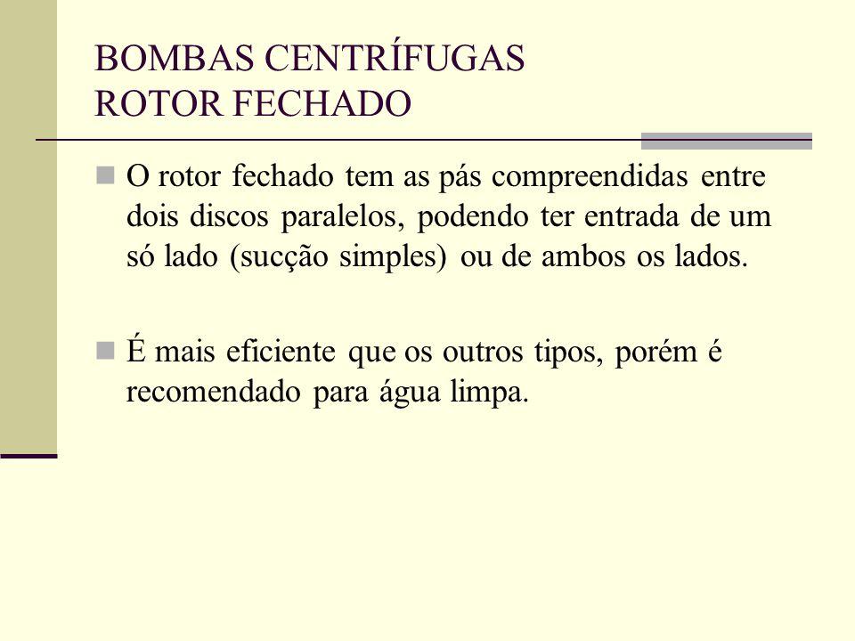 BOMBAS CENTRÍFUGAS ROTOR FECHADO