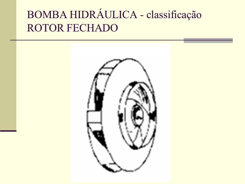 BOMBA HIDRÁULICA - classificação ROTOR FECHADO