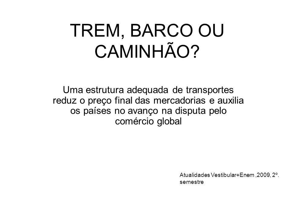 TREM, BARCO OU CAMINHÃO