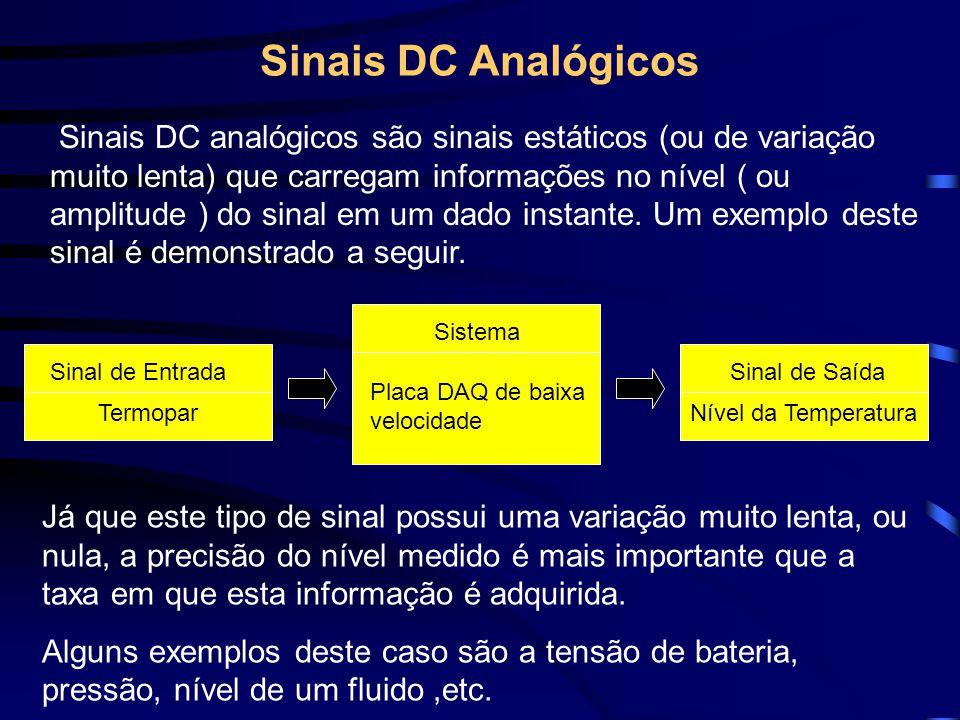 Sinais DC Analógicos