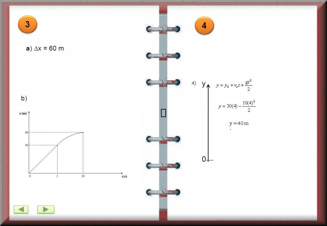 3 4 a) ∆x = 60 m y b)