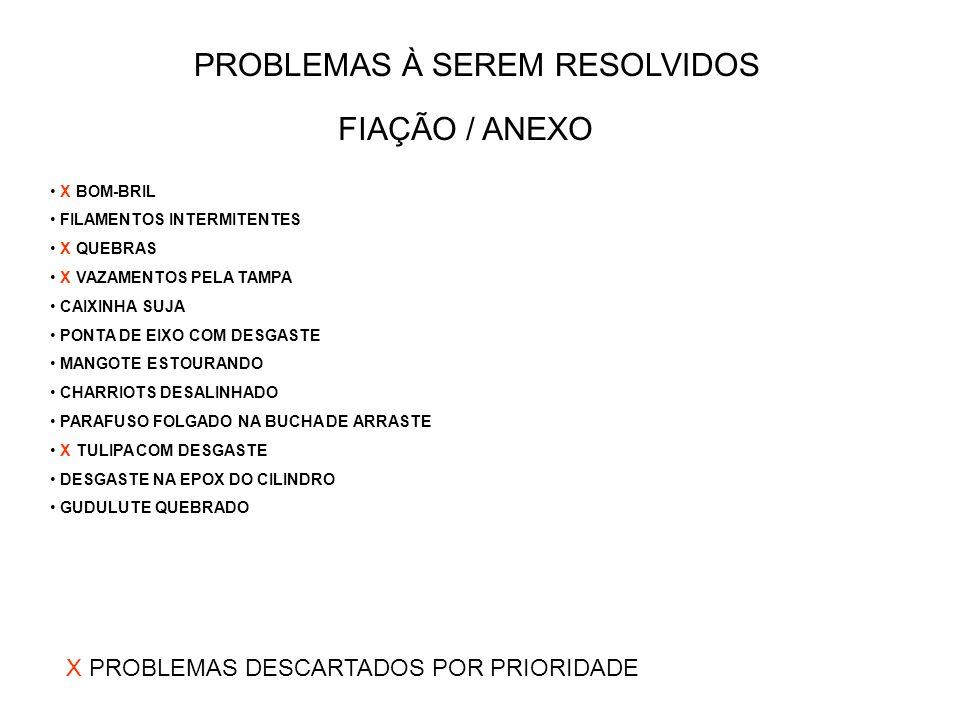PROBLEMAS À SEREM RESOLVIDOS