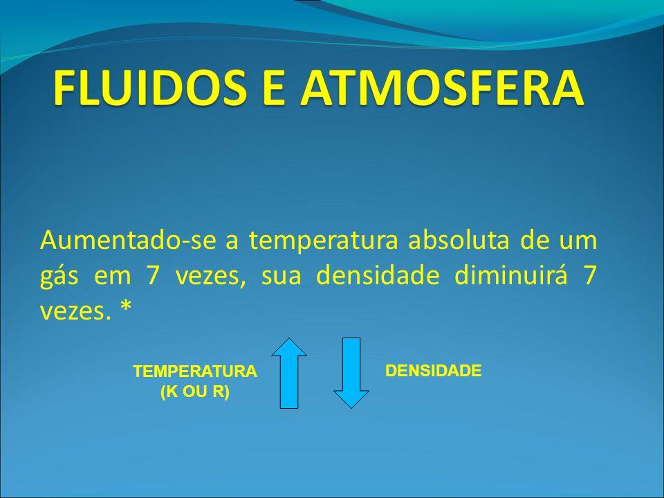 Aumentado-se a temperatura absoluta de um gás em 7 vezes, sua densidade diminuirá 7 vezes. *