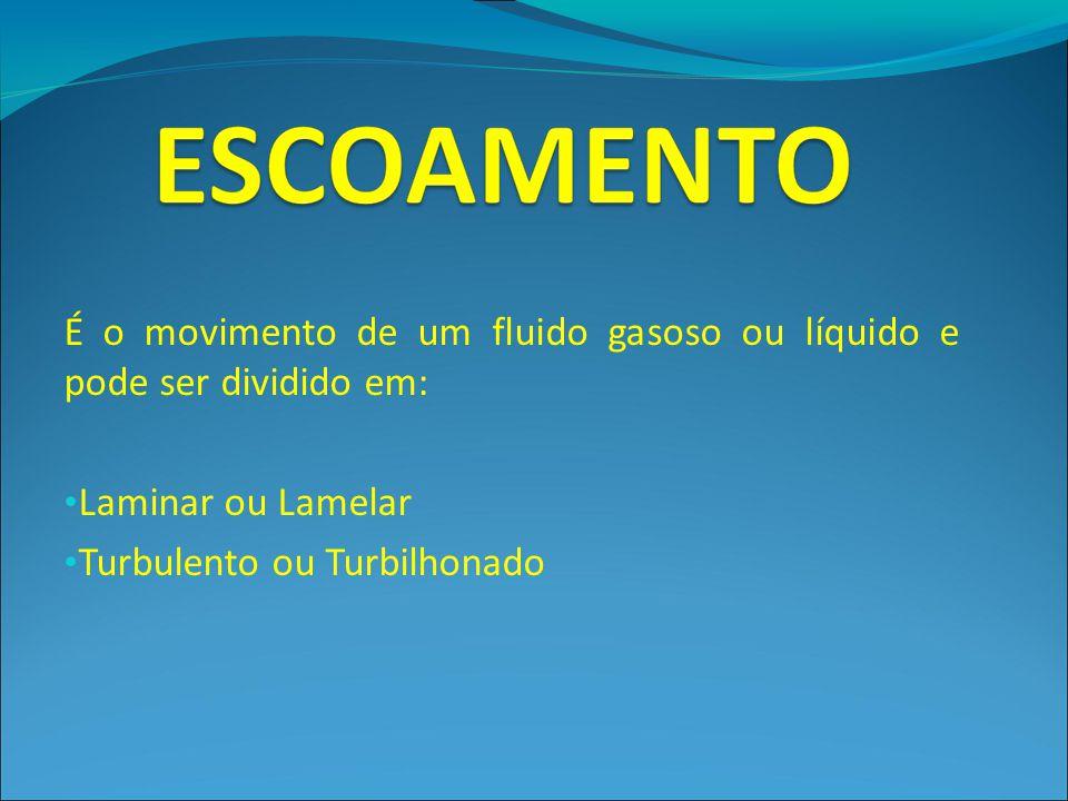 É o movimento de um fluido gasoso ou líquido e pode ser dividido em: