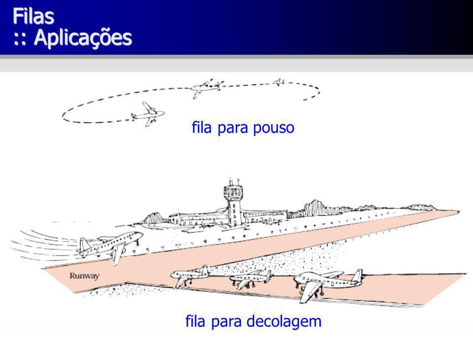 Filas :: Aplicações fila para pouso fila para decolagem