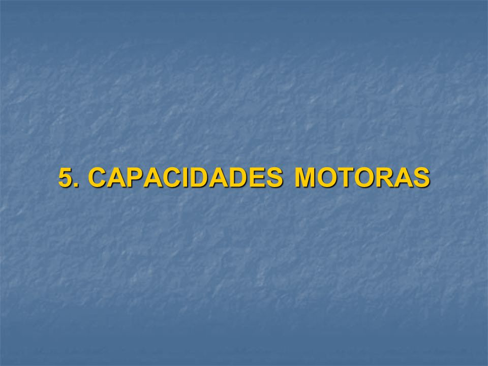 5. CAPACIDADES MOTORAS