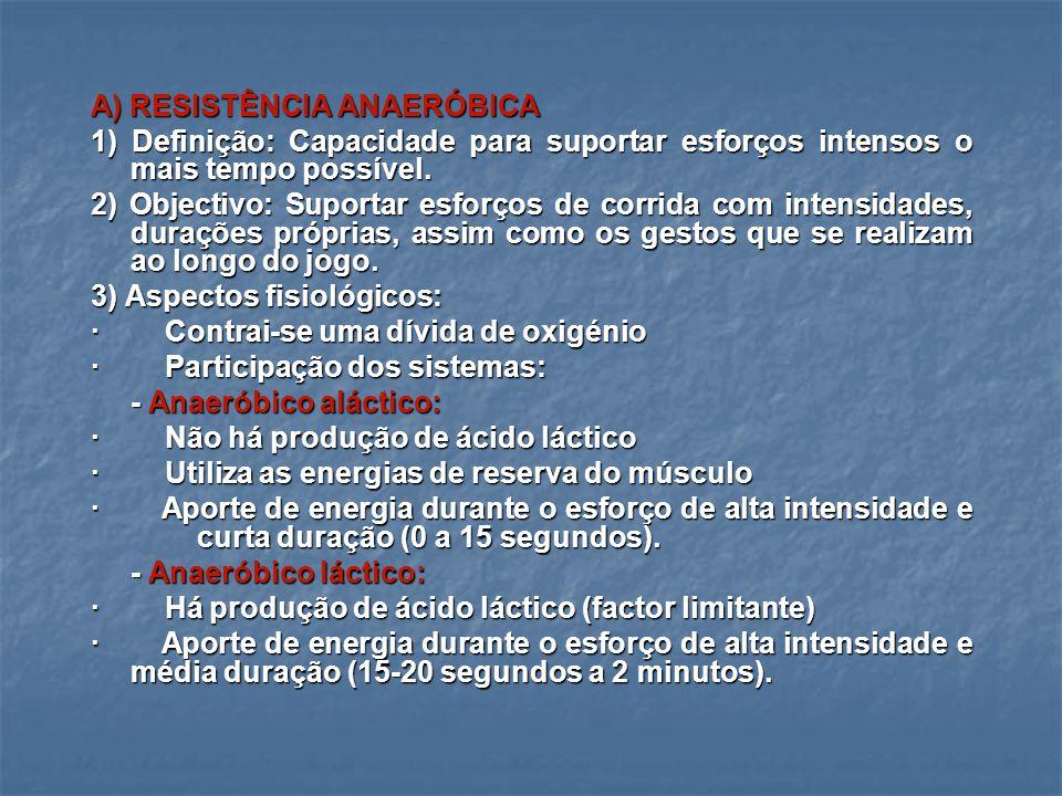 A) RESISTÊNCIA ANAERÓBICA
