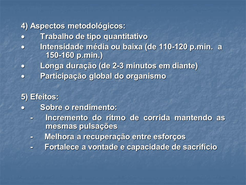 4) Aspectos metodológicos: