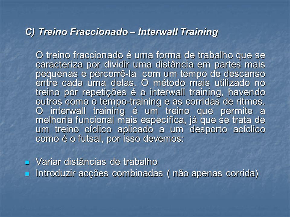 C) Treino Fraccionado – Interwall Training