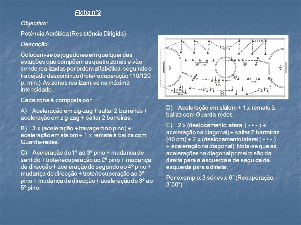 Ficha nº2 Objectivo: Potência Aeróbica (Resistência Dirigida) Descrição: